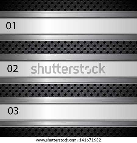 Metal circular grid. Infographic template. Raster version of the loaded vector - stock photo
