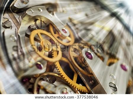 Metal Cogwheels, Concept Teamwork , Idea Technology - stock photo