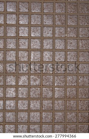 metal cover in small squares - stock photo