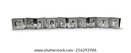 Metal Creativity Text - stock photo