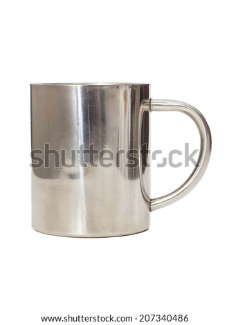 metal cup  isolated on white  - stock photo