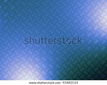 metal 3d diamond pattern plate - stock photo