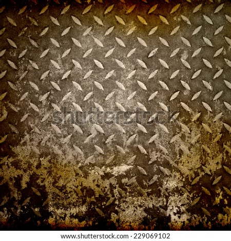Metal diamond plate - stock photo