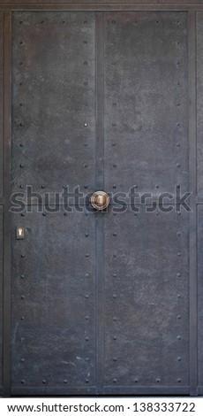 metal door - stock photo