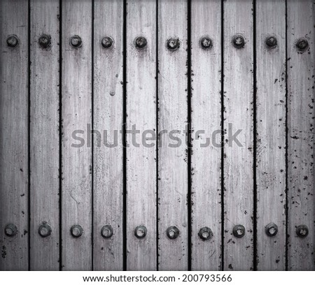 Metal door with grunge style - stock photo
