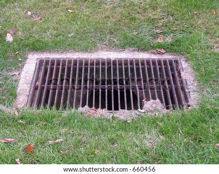 Metal Drainage Grate Lawn Stock Photo 660453 Shutterstock