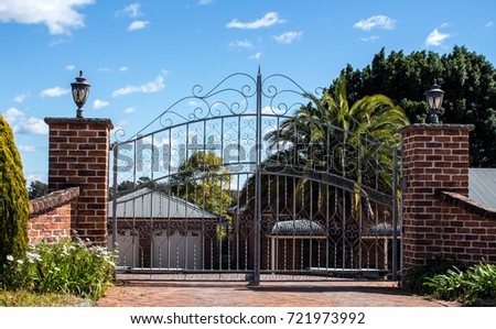 Residential Gate Stock Images Royalty Free Images