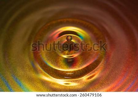 Metal droplet - stock photo