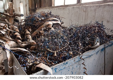 metal factory waste  - stock photo