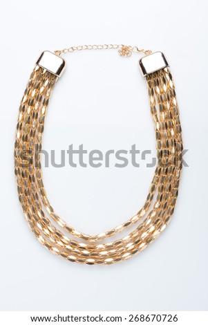 metal feminine necklace.  - stock photo