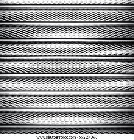 metal fence - stock photo