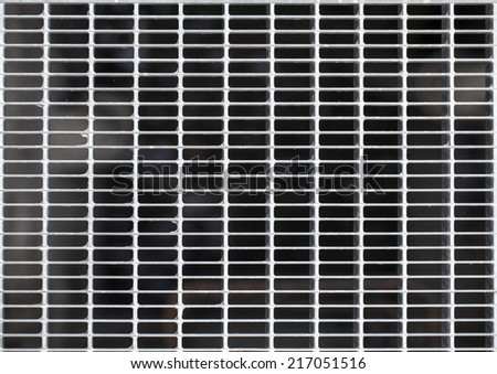 Metal Fence Background - stock photo