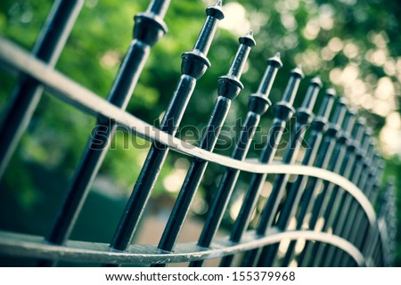 Metal fence detail. Abstract concept
