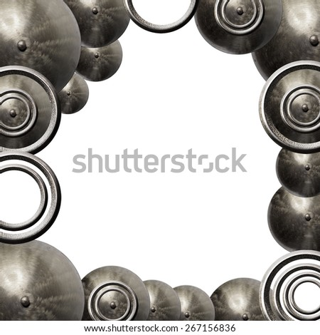 Metal frame - stock photo