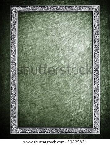 metal frame background - stock photo