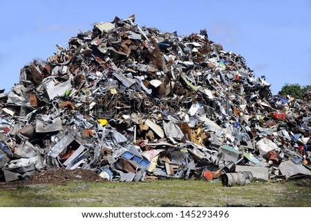 Metal garbage - stock photo