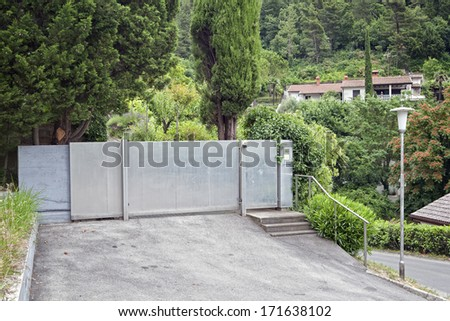 Lock gates stock images royalty free images vectors for Driveway gate lock