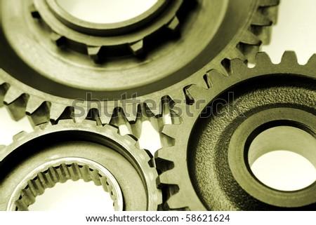 Metal gears - stock photo