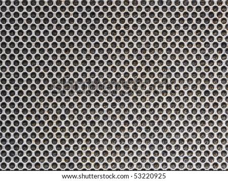 metal grid background (old metal) - stock photo