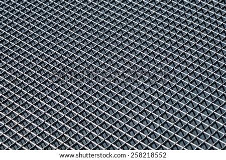 Metal grid surface pattern - stock photo