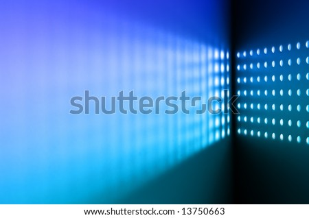 Metal Grille Holes Abstract Grill - stock photo