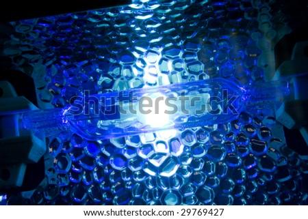metal-halide lamp - stock photo