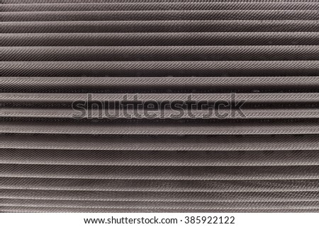Metal hydraulic oil filter closeup isolated on white - stock photo