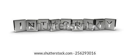 Metal Integrity Text - stock photo