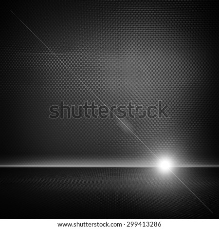 metal interior with lighting background - stock photo