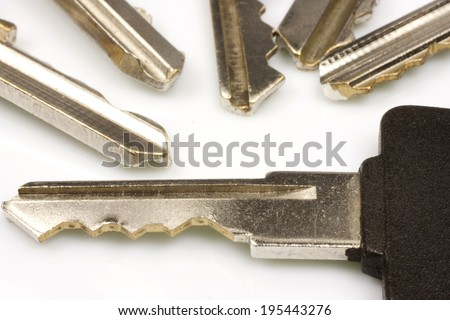 metal key to open something closed - stock photo