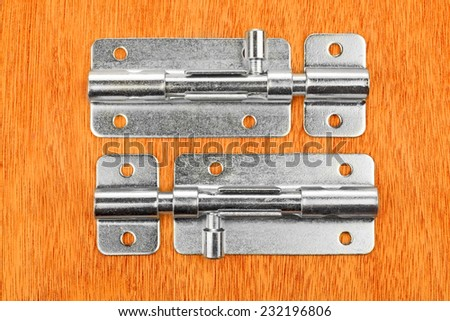 Metal latch for the door  - stock photo
