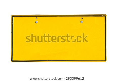Metal License Plate With Copy Space  - stock photo