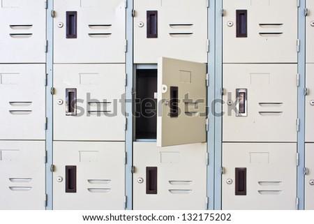 Metal Locker - stock photo