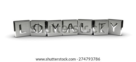 Metal Loyalty Text (isolated on white background) - stock photo