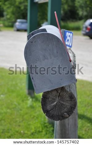 Metal mailbox - stock photo