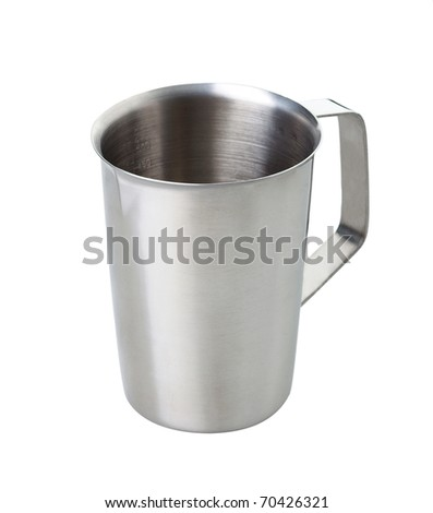 Metal measuring cup a useful kitchenware isolated