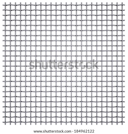 Metal mesh. Isolated render on a white background - stock photo