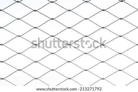 Metal mesh. isolated wire netting