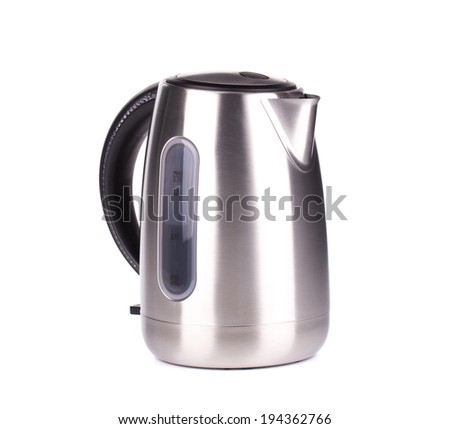 Metal modern kettle. Isolated on a white background.
