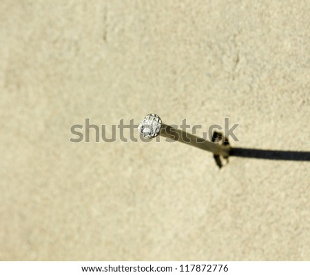 Metal nails on the wall - stock photo