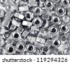 metal nuts - stock photo