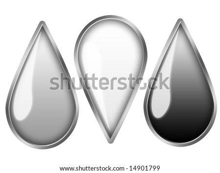 Metal oil Drops - stock photo