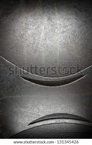 metal on wall - stock photo