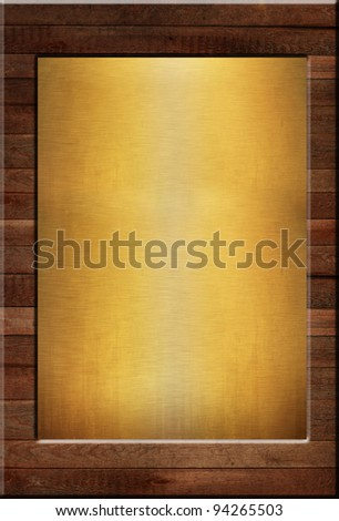 metal on wood background or texture