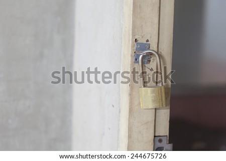 metal padlock  - stock photo