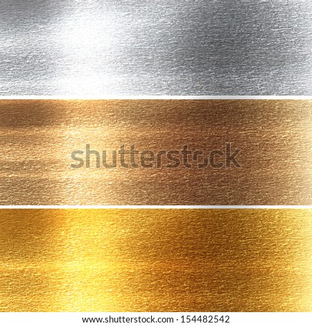 metal panels in different materials with some fine grain in it - stock photo