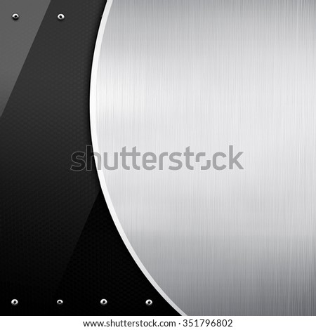 metal pattern with glass background