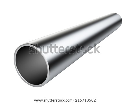 Metal pipe. 3d illustration isolated on white background - stock photo
