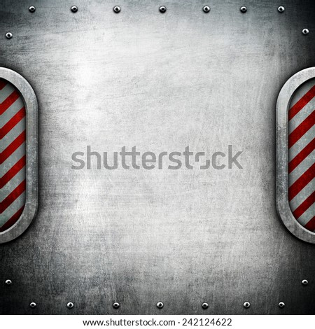 metal plate  - stock photo