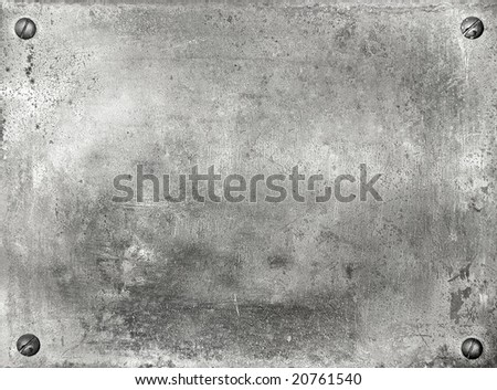 Metal plate background texture - stock photo